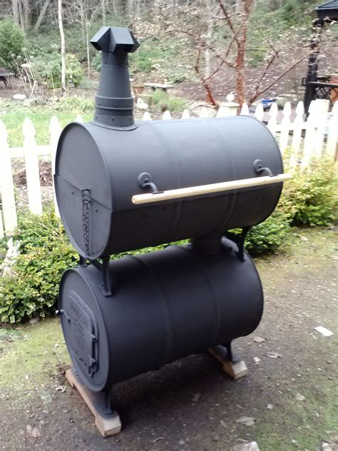 Double Barrel Smoker Grill Plans