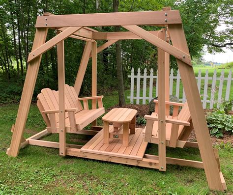 Double Bench Swing Plans