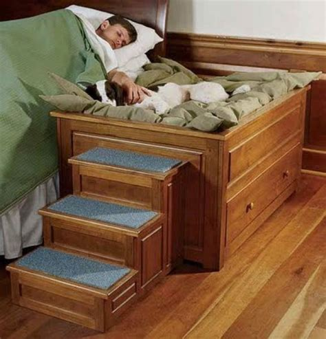 Double Dog Bed Diy With Stairs