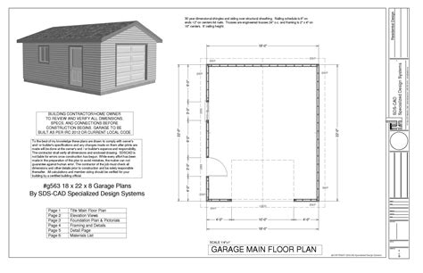 Double Garage Plans Drawings To Make A Homemade