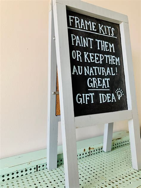 Double Sided Chalk Board Etsy Table