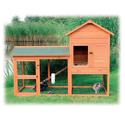 Double Storey Rabbit Hutch With Run