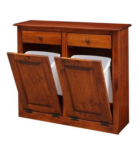 Double Trash Bin Cabinet Plans