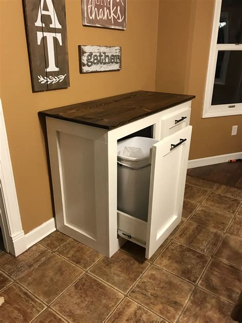 Double Trash Can Holder Diy