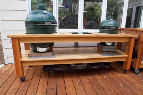 Double-Big-Green-Egg-Table-Plans