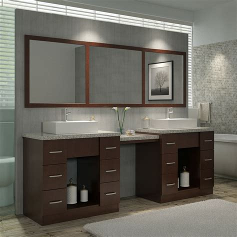 Double-Sink-Bathroom-Vanity-With-Makeup-Table