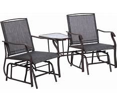 Best Double chair bench with table