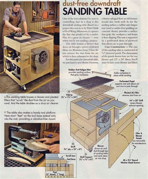 Downdraft Sanding Table Plans Template