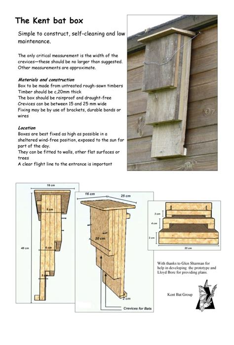 Download Cedar Bat Box Plans