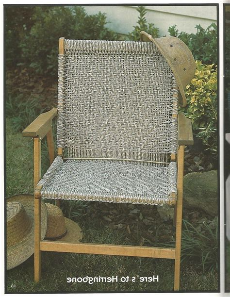 Downloadable Macrame Chair Patterns