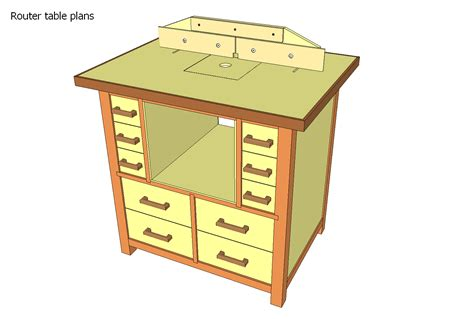 Downloadable Router Table Plans