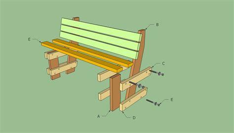 Downloadable-Building-Plans-For-A-Park-Bench