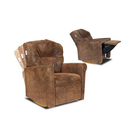 Dozydotes Contemporary Child Rocker Recliner Brown Bomber