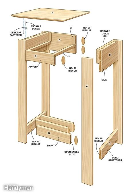Drafting End Table Wood Plans
