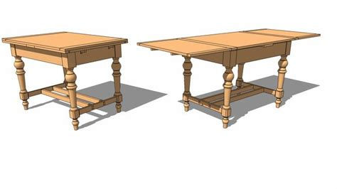 Draw-Leaf-Table-Plans-Sketchup