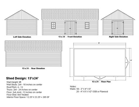 Drawing Shed Plans For Building Permit