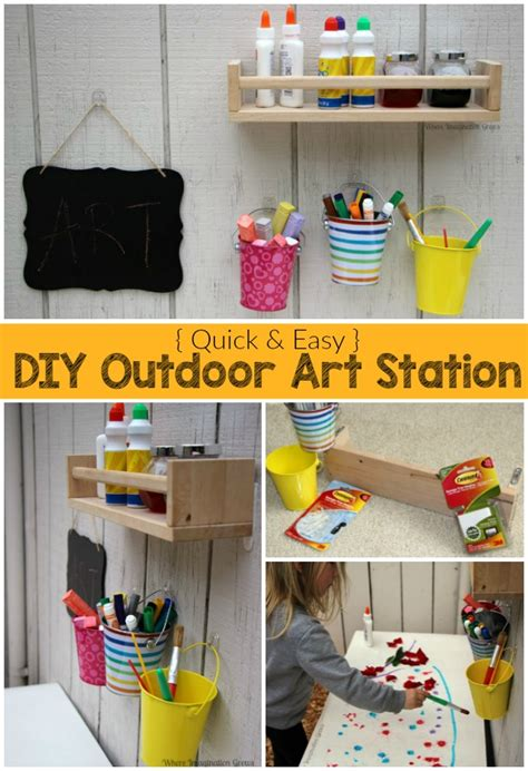Drawing Station For Kids Wood Diy