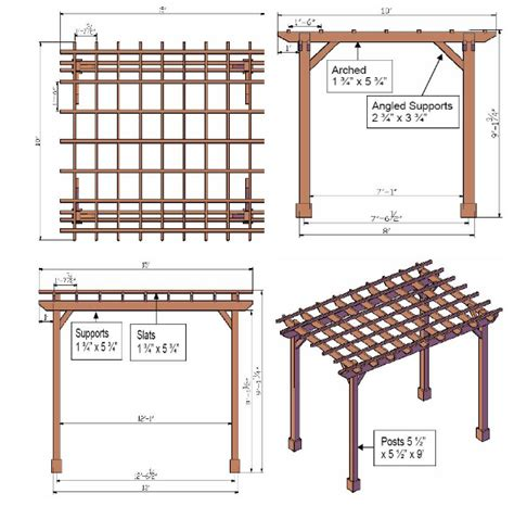 Drawing-Plans-For-A-Pergola