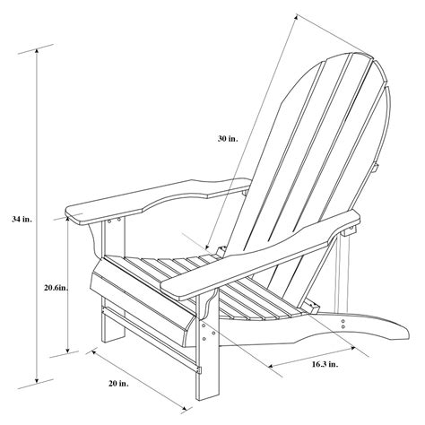 Drawings-Of-Adirondack-Chairs