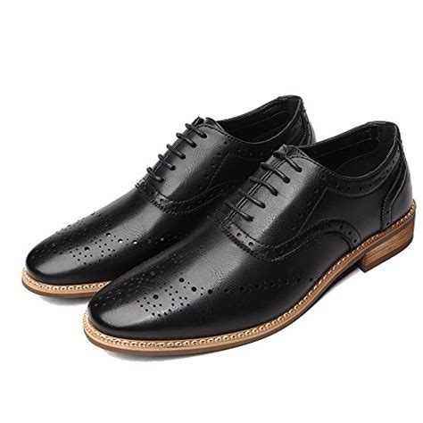 Dress Shoes for Men Brogue Oxfords Casual Perforated Classic Modern Lace up Derby Shoes by