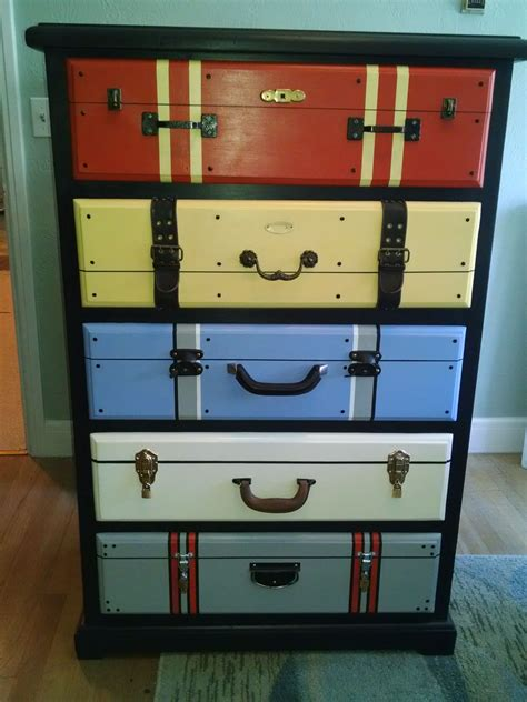 Dresser Diy Looks Like Stacked Suitcases