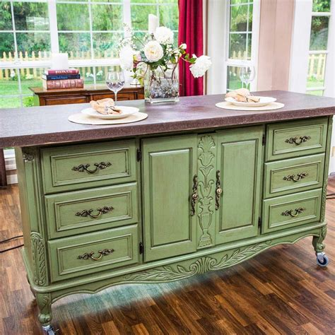 Dresser Kitchen Island Diy With Cupboards