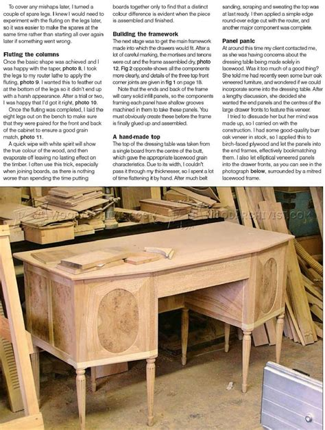 Dressing Table Woodworking Plans