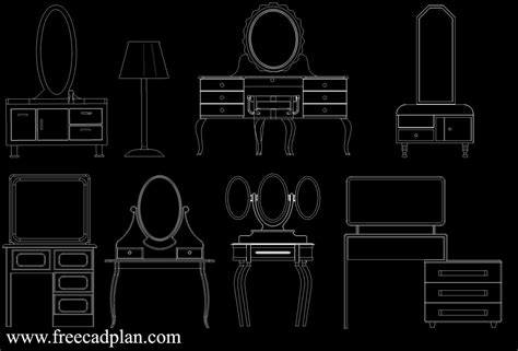 Dressing-Table-Plan-Cad-Block