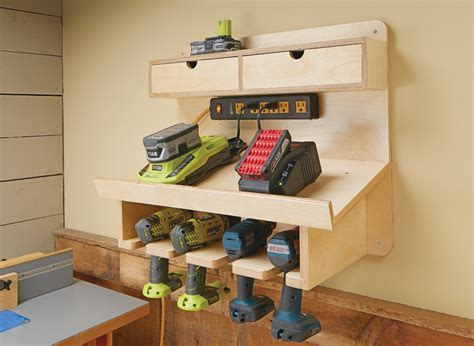 Drill Charging Station Woodworking Plans