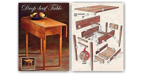 Drop Leaf Table Plans Woodsmith