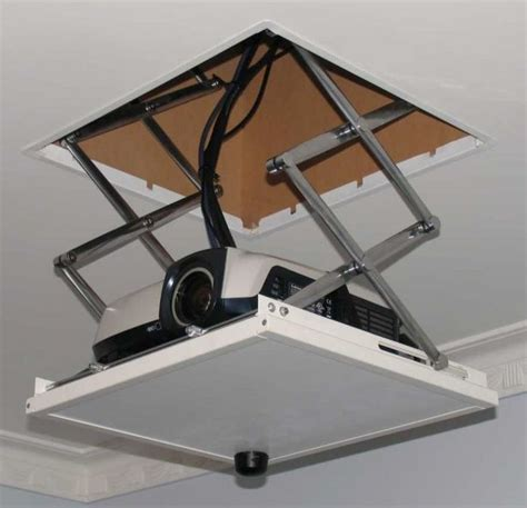 Drop-Ceiling-Projector-Shelf-Diy