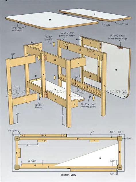 Drop-Leaf-Craft-Table-Plans