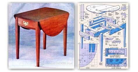 Drop-Leaf-End-Table-Plans