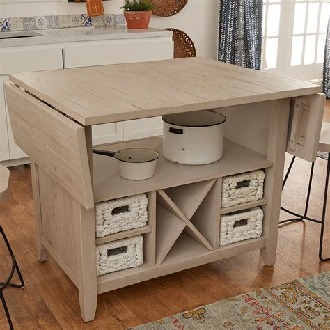 Drop-Leaf-Kitchen-Island-Plans