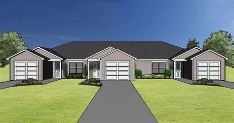 Duplex Floor Plans One Car Garage Plans