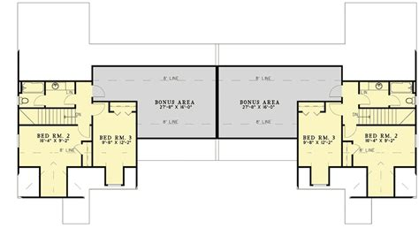 Duplex plans with bonus room Image