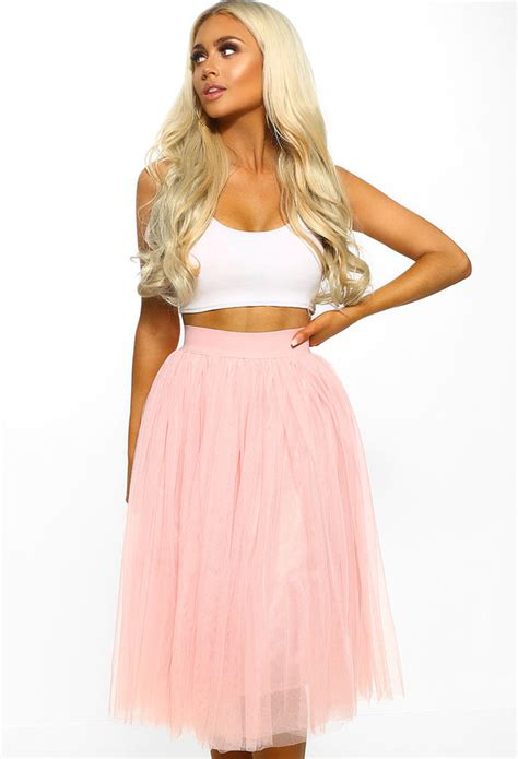 177b7f8043 💥 Lowprice Dusty Pink Tulle Midi Skirt From Needle & Thread. Size 8 ...
