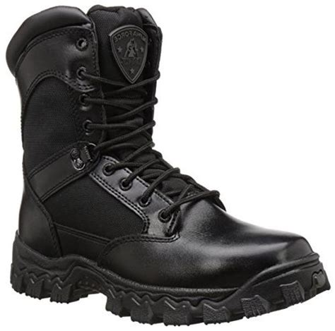 Duty Men's Alpha Force 8' Zipper Boot,Black,7 M