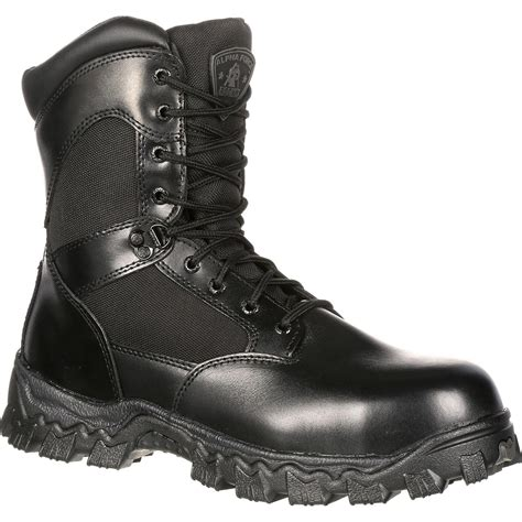 Duty Men's Alpha Force 8' Zipper Boot,Black,8.5 M