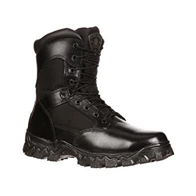 Duty Men's Alpha Force 8' Zipper Boot,Black,9.5 M