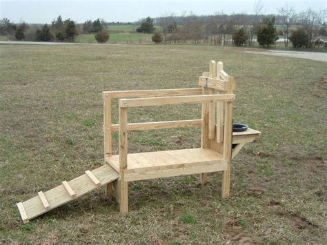Dwarf Goat Milking Stand Plans