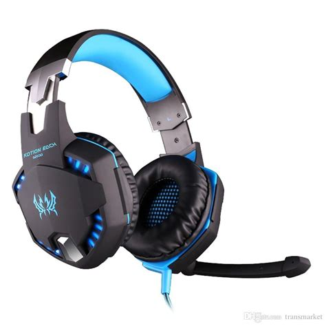 EACH G2100 Vibration Function Professional Gaming Headphone Games Headset with Mic Stereo Bass LED Light for PC Gamer (Red.)