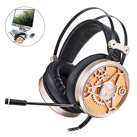 EIGIIS Over-ear Wired Gaming Headset Noise Cancelling LED Indicator for PC Tablet PUBG