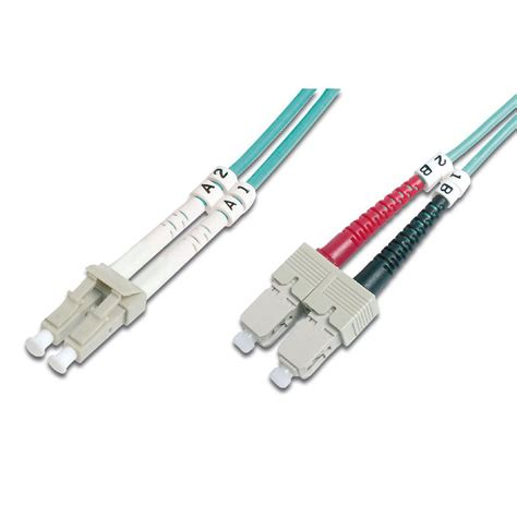 ENET Components, Inc. Enet St To Lc 30M Om3 Aqua Patch Cable