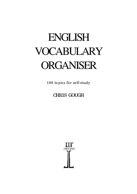 [pdf] English Vocabulary Organiser - Elibrary Bsu Az