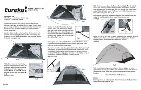 Eureka Tent Assembly Instructions Pdf Download.