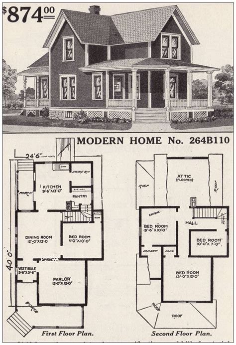 Early 1900s Rural American House Plans