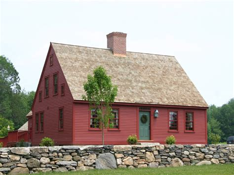 Early American Colonial Cape House Plans
