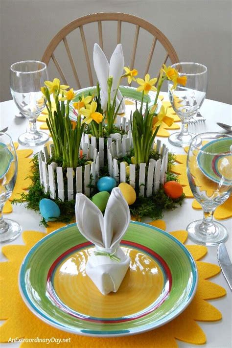 Easter Table Centerpieces Diy