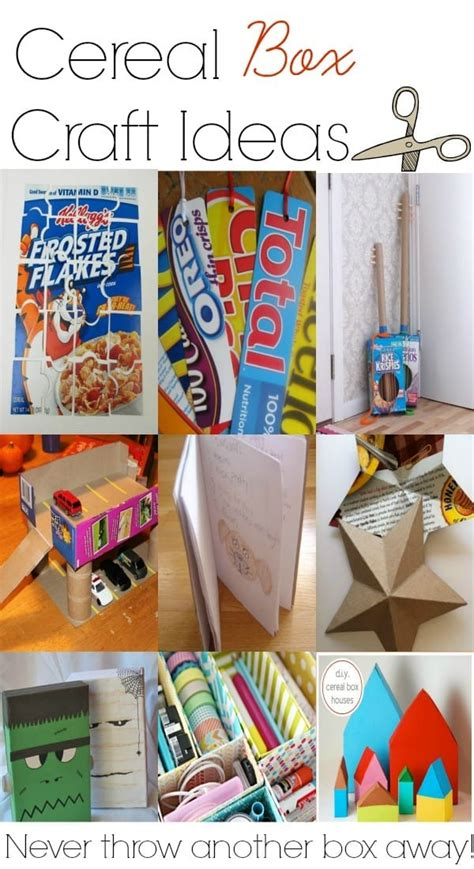 Easy Cereal Box Crafts